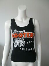 Hooters O'Hare Chicago Black Orange Waitress Uniform Slim Cropped Tank Top XS