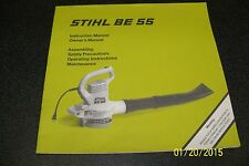 Be55 Stihl Blower instuction Operator Betriebsanleitung