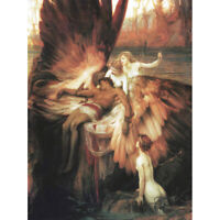 James Mourning For Icarus Myth Greek Wings Painting Canvas Art Print Poster