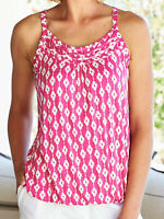 JULIPA LADIES CHAIN LINK PRINTED BLOUSON CAMI TOP PINK UK Size 28 B69