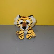 "Russ Luvvies Cheddar The Peeper Eyes Mini 6"" Tiger Bean Plush Stuffed #11131"
