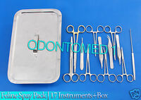 Feline Spay Pack | 17 Instruments+Box Stainless Steel Veterinary DS-1080
