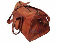 Bag Weekender Travel Leather Duffel Duffle Gym Overnight Luggage Men New Vintage