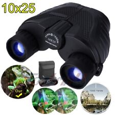 10X25 Binoculars Compact, High Power Mini Binoculars with Carry Bag & Neck Strap