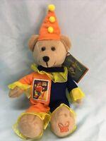 """USPS 29¢ stamp Circus Kendall the Clown Teddy Bear Bean Bag Plush 9"""" (12)"""