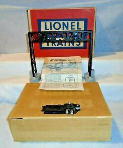 LIONEL No. 450 OPERATING SIGNAL BRIDGE with 153C CONTACTOR, INSERT, OB - LN