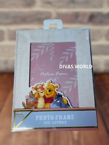 "Disney Photo Frame Winnie the Pooh 4x6"" Home Décor Image Frames Novelty Gift NEW"