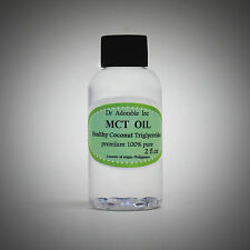 2 OZ PURE PREMIUM MCT OIL 100% COCONUT SOURCED VEGAN NATURAL by DR.ADORABLE