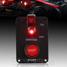 12V Druckschalter Rot LED Ignition Engine Start & Kippschalter Schalttafel Panel