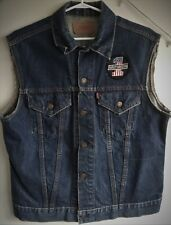 Vintage Levis Big E customized vest / jacket with Harley patches