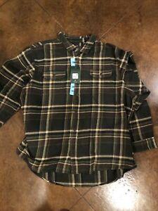 Orvis Men's 3XL Heavy Flannel Button Down Shirt NWT