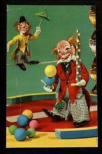 Circus clown postcard dolls juggling