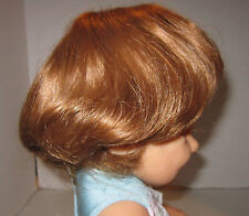 "Vintage auburn U.S.A. made synthetic doll wig to fit 12"" circ head - Nwot"