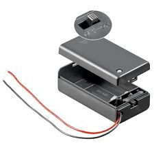Battery Holder Compartment 9 Volt With on-Off Switch/9V E-A
