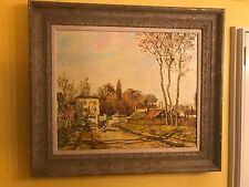 MALVA 80 Omar Hamdi LARGE Framed Oil Painting ORIGINAL!!!