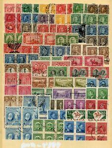 Weeda Canada 90//413 Fine+ used blocks of 4-6, Booklet pane CV $64+