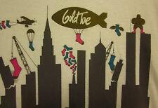 GOLD TOE SOCKS city skyline XL tee blimp logo T shirt NYC foot fetish