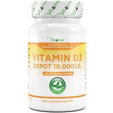 Vitamin D3 10.000 I.E. - 365 Tabletten - Hochdosiert mit 10000 IU Vitamin D3