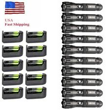 10Sets Tactical 3 Modes CREE XML-T6 LED Flashlight Lamp Torch+18650+Charger USA