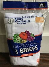 Vintage Fruit of the Loom Briefs Underwear FTL Youth 14 NOS Package of 3 New
