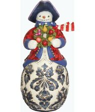 "Jim Shore DAMASK SNOWMAN 9.75"" H  NIB 4034424 NEW IN BOX"