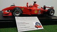 F1 FERRARI F2001 SCHUMACHER MARLBORO coffret  CH 1/18 HOT WHEELS 53956 formule 1