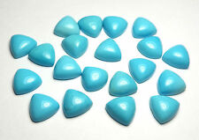1 pc SLEEPING BEAUTY TURQUOISE Blue 10mm Triangle Cabochon AAA NATURAL /c13