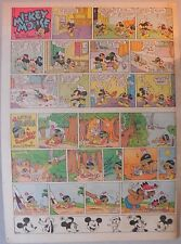 Mickey Mouse Sunday Page by Walt Disney from 12/14/1941 Tabloid Page Size