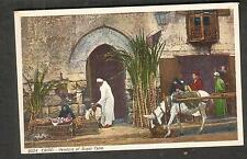 unmailed post card Egypt- Cairo- Vendors of Sugar Cane/Lehnert & Landrock