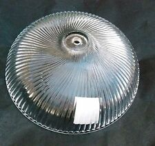 """Shade-Glass 15"""" Clear Ribbed Swirl, Satco 50-844, 1/2"""" Fitter hole Lighting #15"""
