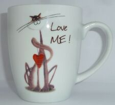 """Katzen Tee Tasse aus Porzellan """"Love me"""""""