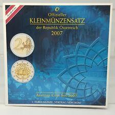 AUSTRIA 2007 CARTERA OFICIAL - 8 VALORES - INCLUYE 2 EUROS TRATADO DE ROMA