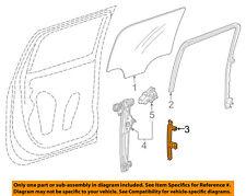 GM OEM Glass-Rear Door-Rear Guide Left 84010826