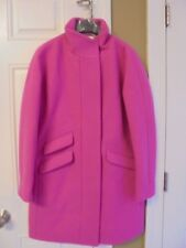 J CREW WOMEN'S STADIUM CLOTH COCOON COAT SIZE -4 #G8447 VIVID FLAMINGO NWT