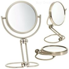 Mirrors Vanity Jerdon Makeup Folding Travel Tabletop 15x Magnification Stand New