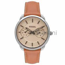 Fossil Original ES3950 Womens Tailor Dark Brown Leather Watch 35mm Multifunct