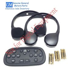 GM Wireless Headphones DVD Video Entertainment Set Escalade Suburban Tahoe Yukon