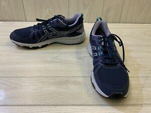 ASICS GEL-Venture 7 1012A477 Running Shoe - Women's Size 12 W, Navy/Purple NEW