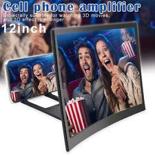 "3D 12"" Curved Screen Magnifier Phone HD Video Amplifier Projector Holder Bracket"
