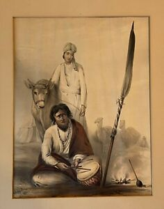 1844 Emily Eden Portraits of the Princes & People of India Plate 17 *Very Rare*