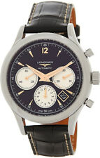 L2.750.4.96.0 | BRAND NEW AUTHENTIC LONGINES HERITAGE GMT CHRONOGRAPH MENS WATCH