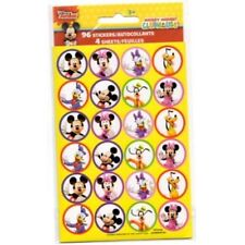 96 Disney Mickey Mouse Stickers (4 Sheets) Party Favors Teacher Supply Minnie