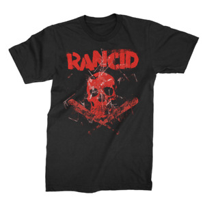 Rancid Skull Bats Crossbones Pop Punk Skate Rock Music Band T Shirt 10150760