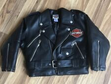 Harley Davidson Riding Jacket Boys Girls Thick Quilted Lining Sz 5 Embroidered