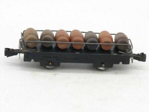 "Marx 6"" Barrel Car with 7 Barrels 574 Has Plastic Knuckle Couplers"