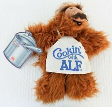 "Vintage ALF Hand Puppet ""Cookin' with ALF"" 12"" Burger King Toy With Tags"