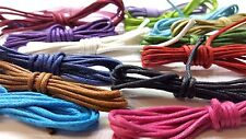 15 Mtrs 1.5mm Waxed Cotton Cord - 15 colours x 1 Meter - C0065