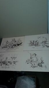 """LOT OF 4 JIM SNOOK PRINTS, """"CALL OF THE WILD,""""  """"THE PHEASANT HUNTER,"""" ++ 1980'S"""