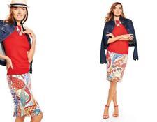 TALBOTS Tomato Twist Paisley Swirls Pencil Skirt 22W NWT Woman (MSRP $119)