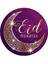 "7.5""  Eid Mubarak Edible Icing Disc Cake Topper"